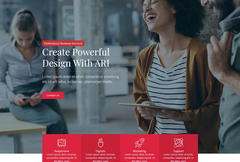 ARI Business Services - bizProWeb Website Builder Starter Skin Design