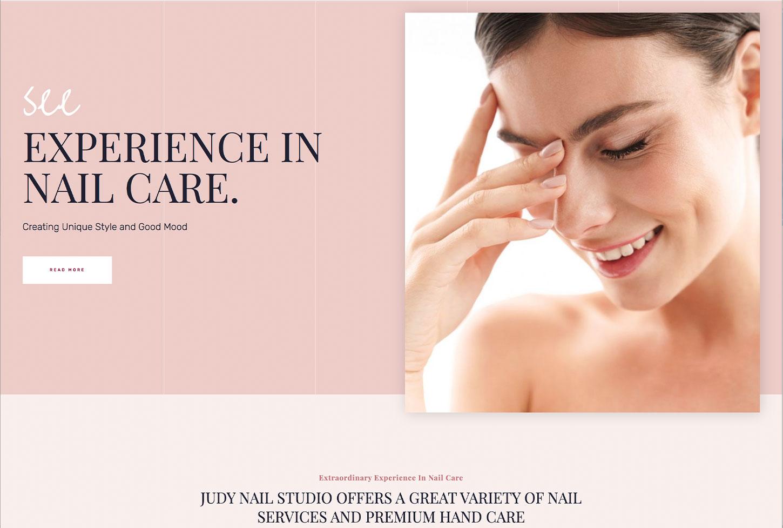 Judy Salon - bizProWeb Website Builder Starter Skin Design