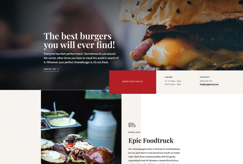 Kogi Food Truck - bizProWeb Website Builder Starter Skin Design