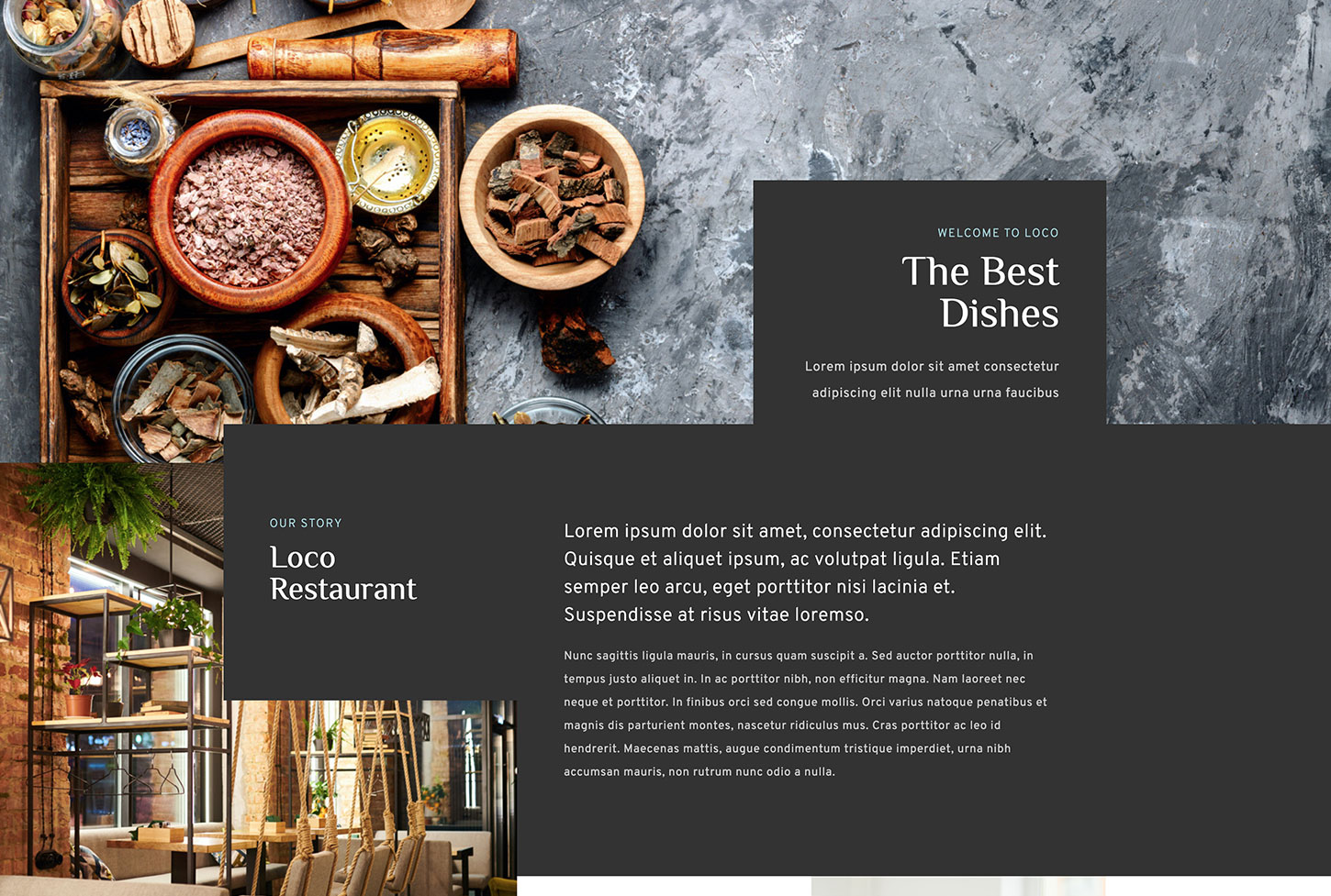 Lokali Restaurant Template - bizProWeb Website Builder Starter Skin Design