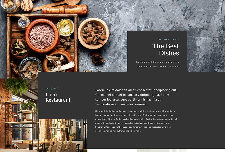 Lokali Restaurant Template - bizProWeb Website Builder Starter Skin Design