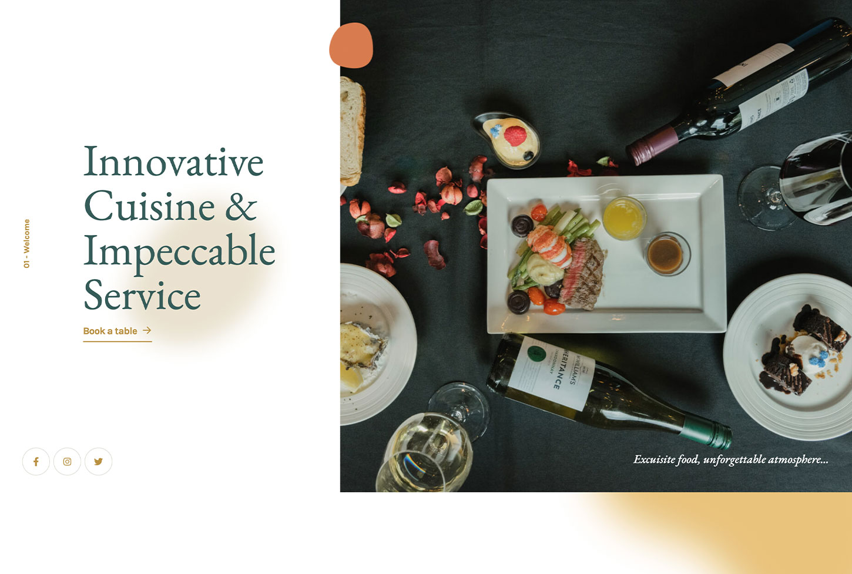 Restaz Restaurant Template - bizProWeb Website Builder Starter Skin Design