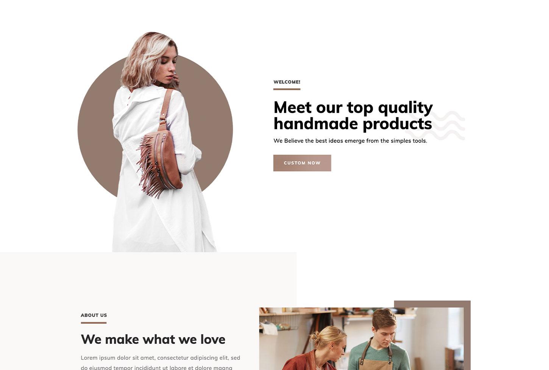Manufacturing, Craftsman, Trade Website Design Template - bizProWeb Website Builder Miami