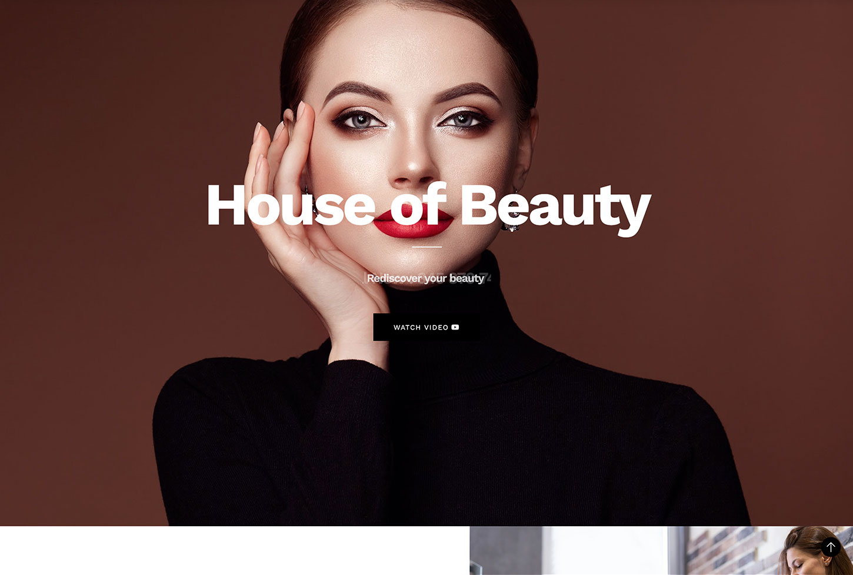 Beauty Salon Website - bizProWeb Website Builder Starter Skin Design