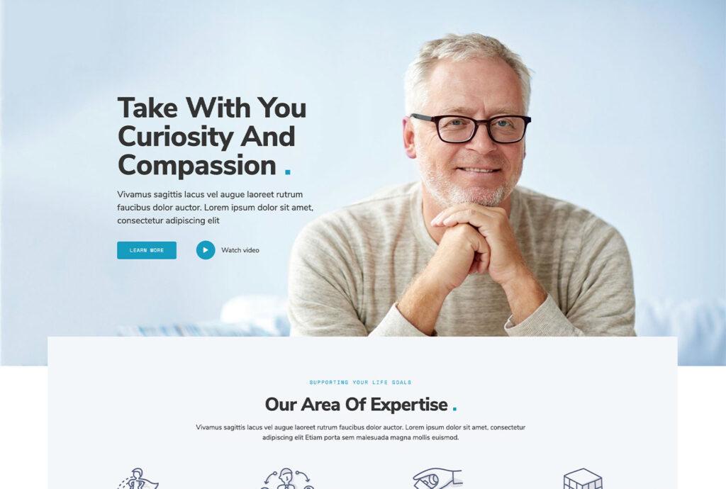 Mentor Life Coach - bizProWeb Website Builder Starter Skin Design