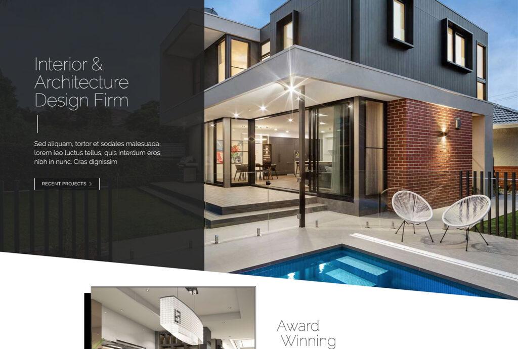 Interior Design and Architecture - bizProWeb Website Builder Starter Skin Design